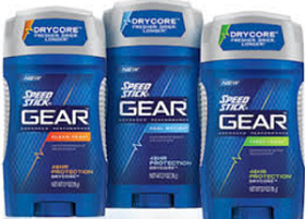2 FREE Speed Stick GEAR Deodorants at Rite Aid
